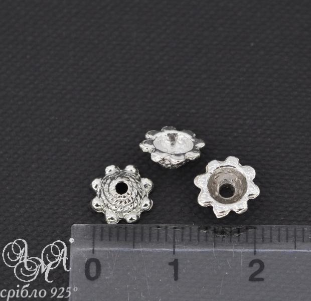 Коронка (К0017) 3,5х8 мм серебро 925 пробы