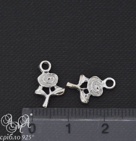 Підвіска (П0155) 9х14 мм срібло 925 проби