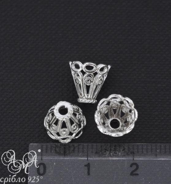 Коронка (К0111) 10х9 мм срібло 925 проби