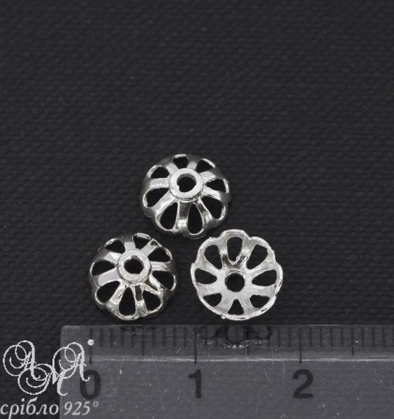 Коронка (К0114) 9х4 мм серебро 925 пробы