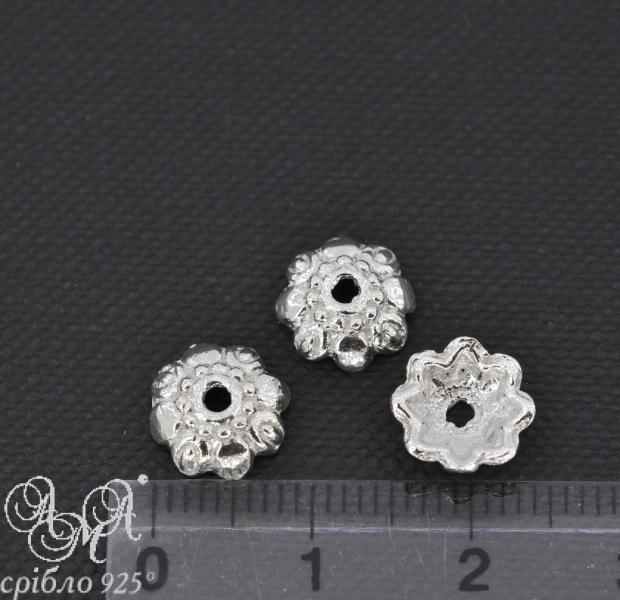 Коронка (К0027) 2х9 мм серебро 925 пробы