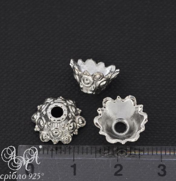Коронка (К0094) 7х14 мм серебро 925 пробы