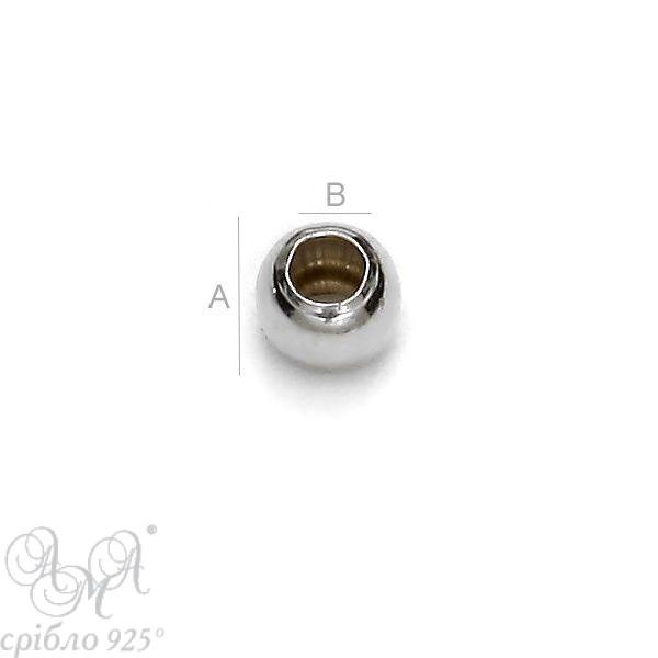 Шарик (Ш 2,5 мм) серебро 925 пробы