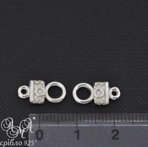 Замок (З0022) 7х12 мм срібло 925 проби ціна за пару 2 штуки