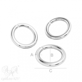 Колечки (КС 5.0х3.2х0.9) срібло 925 проби
