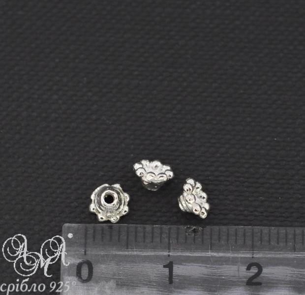 Коронка (К0008) 2х5 мм серебро 925 пробы