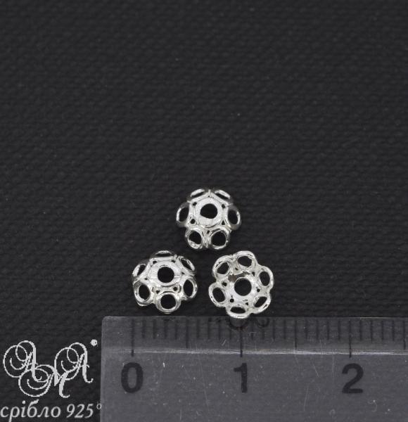 Коронка (К0115) 6х2 мм серебро 925 пробы