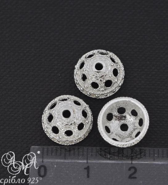 Коронка (К0117) 12х6 мм серебро 925 пробы