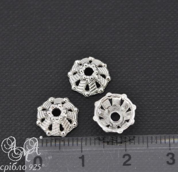 Коронка (К0067) 3,5х10 мм серебро 925 пробы