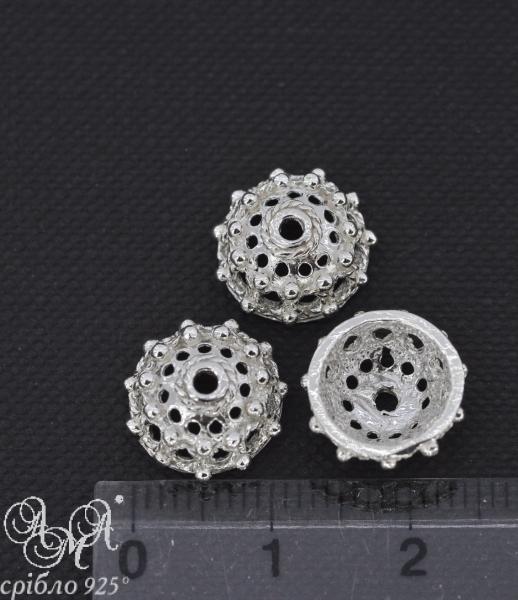 Коронка (К0110) 12х5 мм серебро 925 пробы