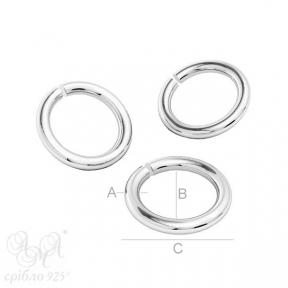 Колечки (КС 5.0х3.6х0.8) срібло 925 проби