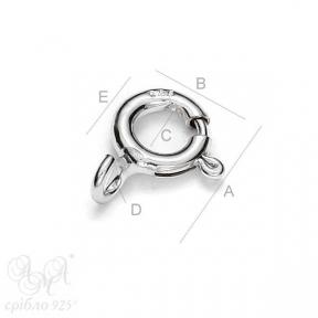 Карабіни (К  5,5 мм) срібло 925 проби